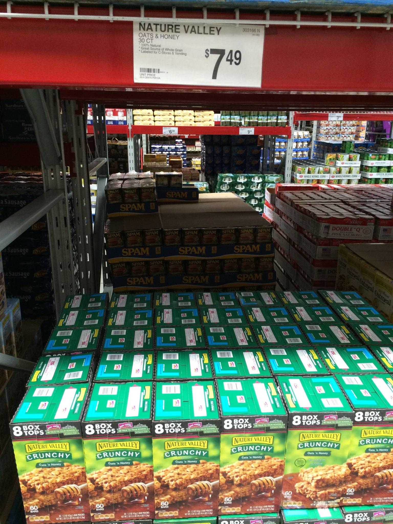 sam s club vs costco prices sam s nature valley granola bars 30 ct 7 49 25 each costco nature valley granola bars 48 ct 12 69 26 each