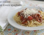Slow Cooker Meat Lovers Spaghetti
