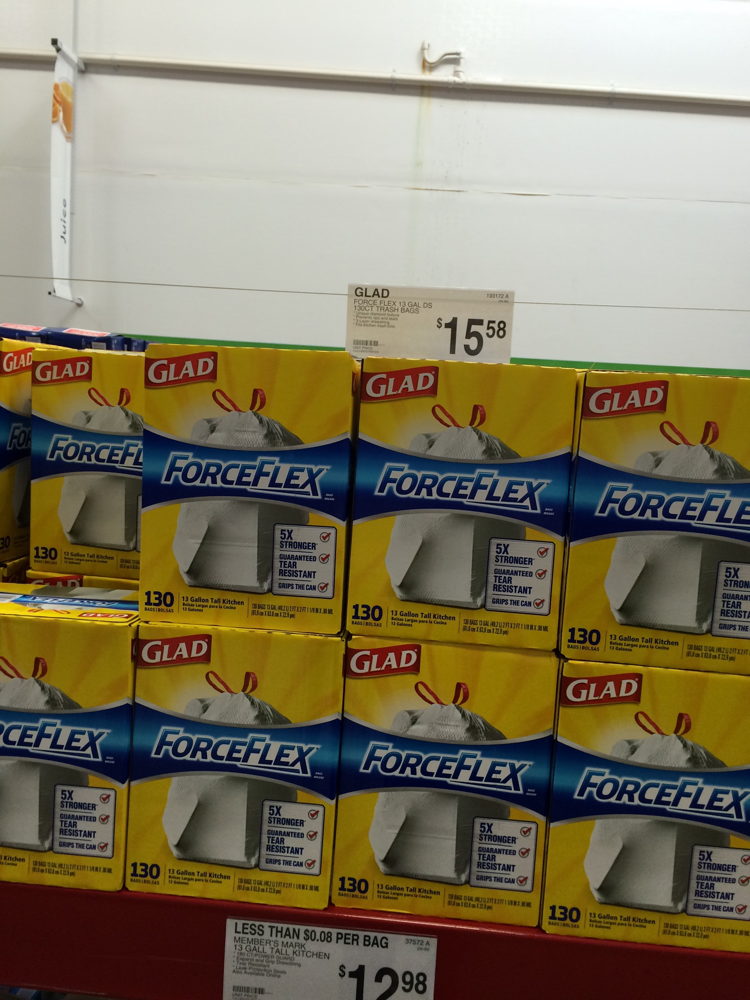 Sam S Costco Aldi And Amazon Trash Bag Price Comparison