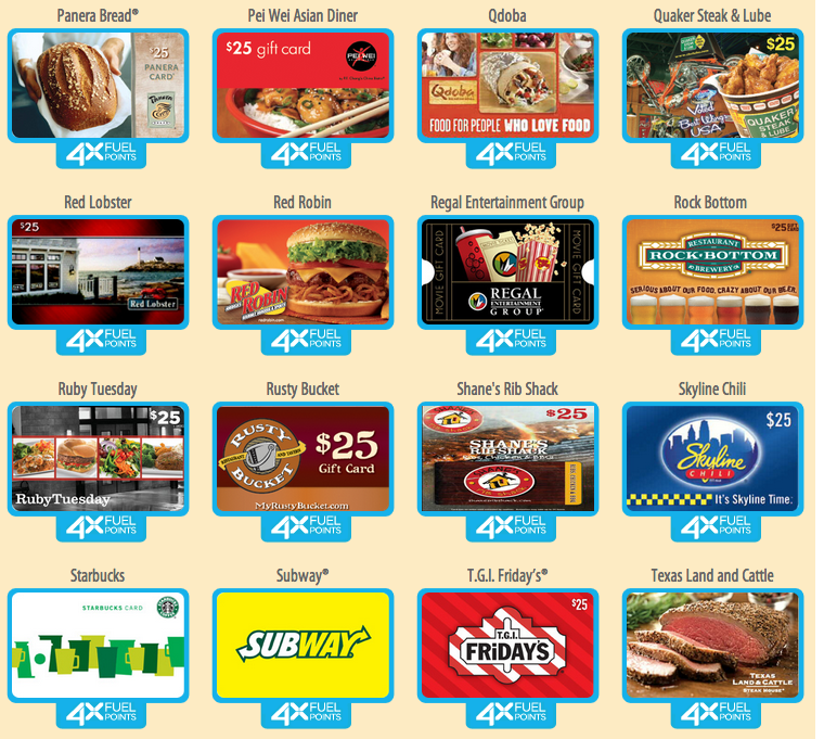 Earn 4x Fuel Points On Restaurant Gift Cards At Kroger I Love This