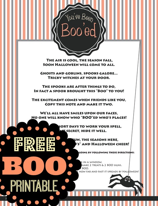 Free Boo Printables: You've Been Boo'ed | 525 x 682 jpeg 129kB
