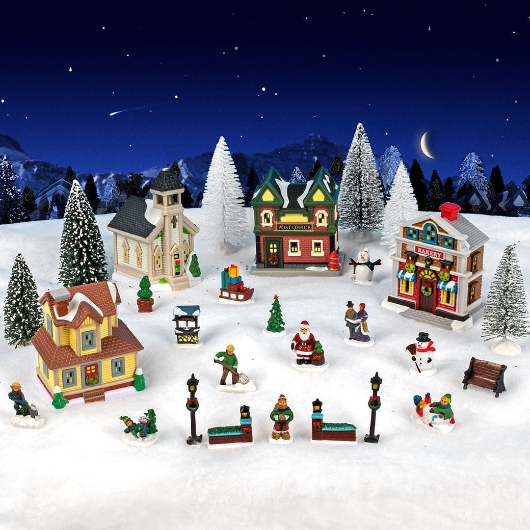 Dollar Tree 27 Piece Christmas Village 13 Online Only Limited Supplies