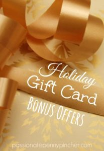 Holiday Gift Card Bonus Offers ppp