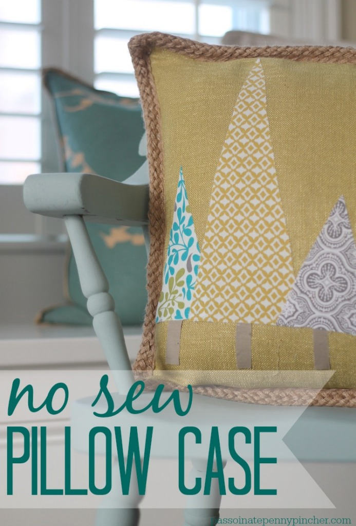 No Sew Pillow Case Passionate Penny Pincher