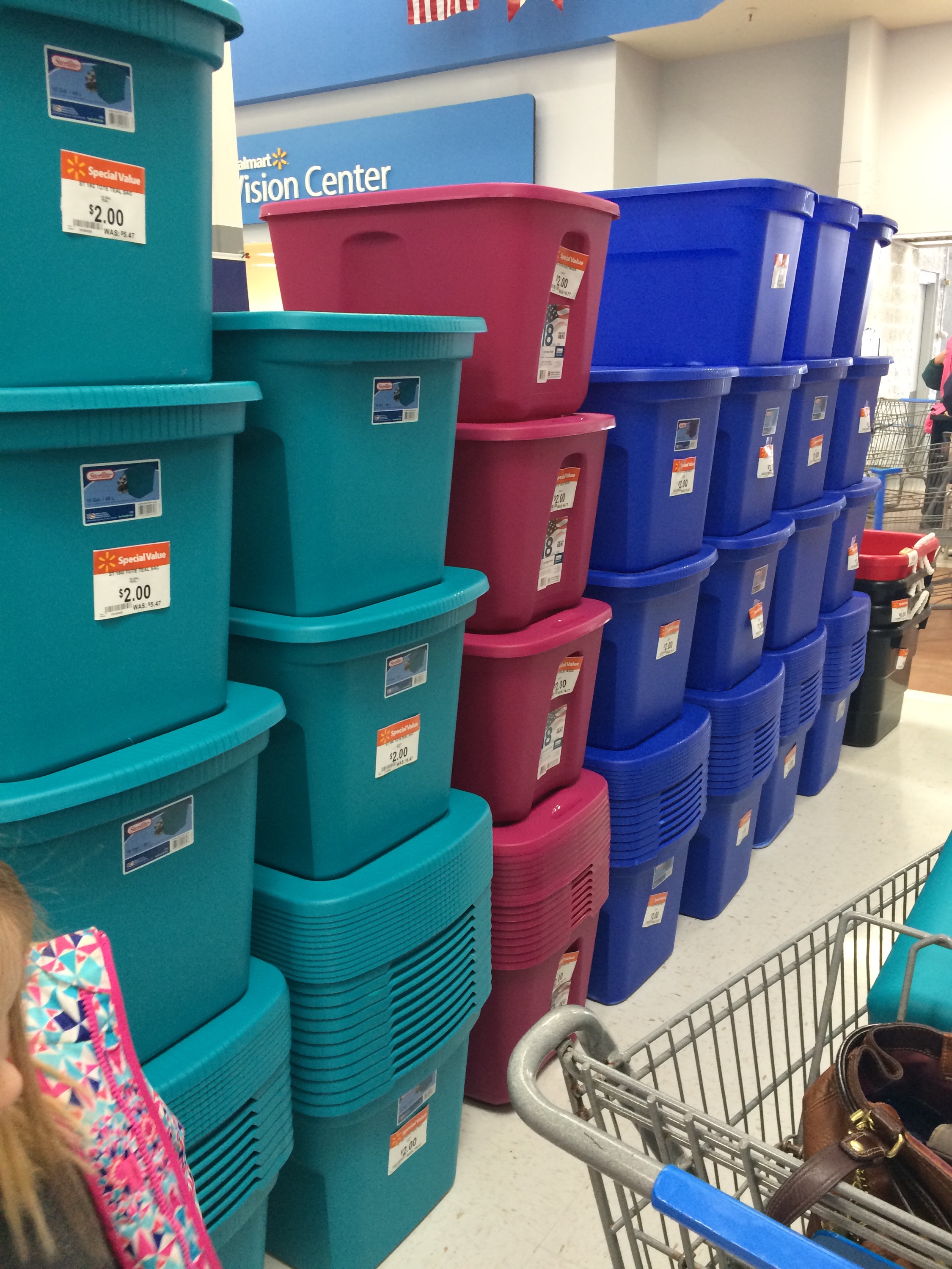 f Walmart Christmas Clearance Includes $2 Storage Totes