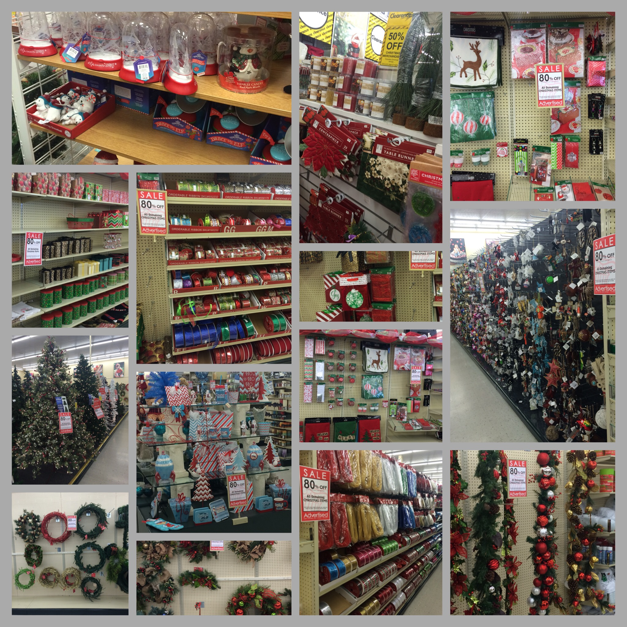while we made our returns yesterday i hurried quickly into hobby lobby michaels and joann fabrics and found a ton of christmas deals - Hobby Lobby Christmas