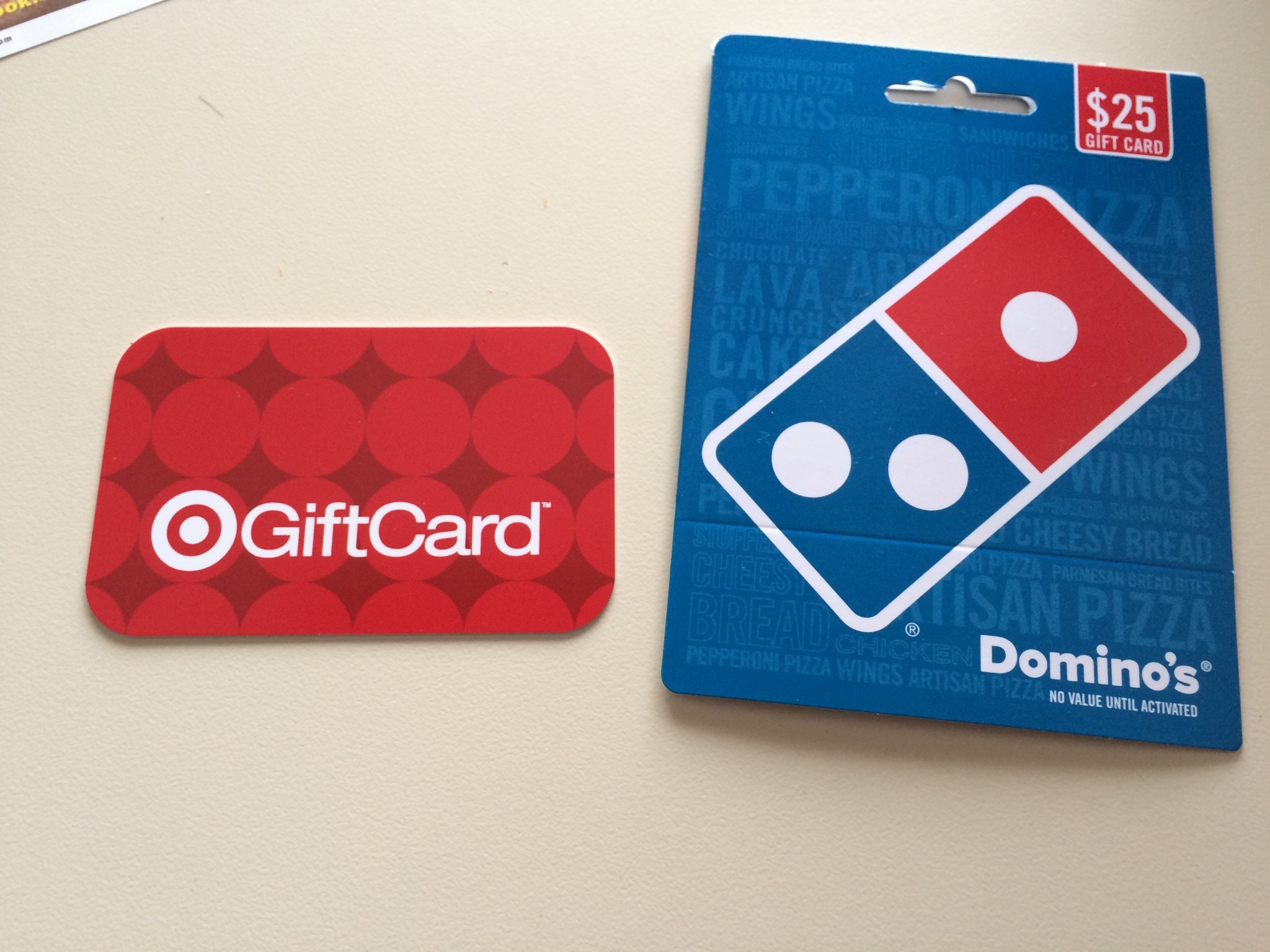 Buy $25 Domino's Gift Card Get $5 Target Gift Card | Passionate ...
