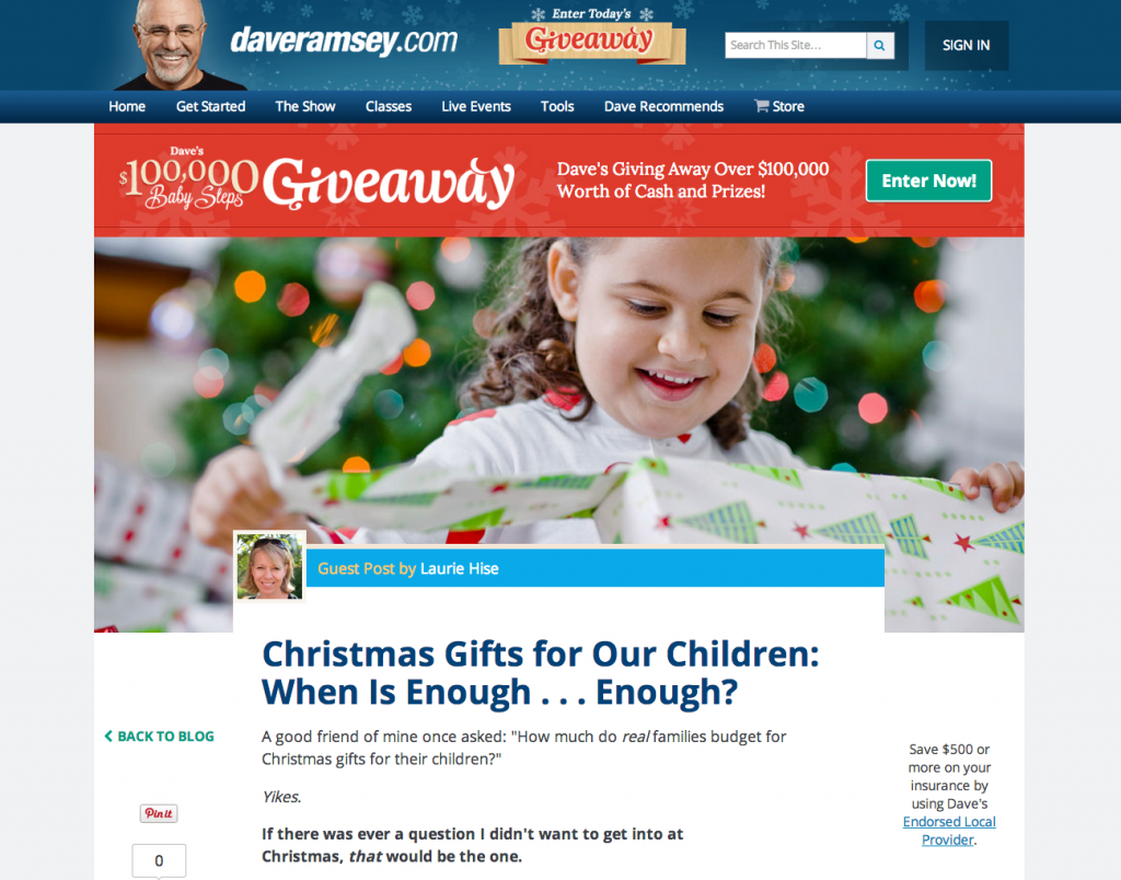Christmas Gifts For Our Children: When Is Enough, Enough? (Guest ...
