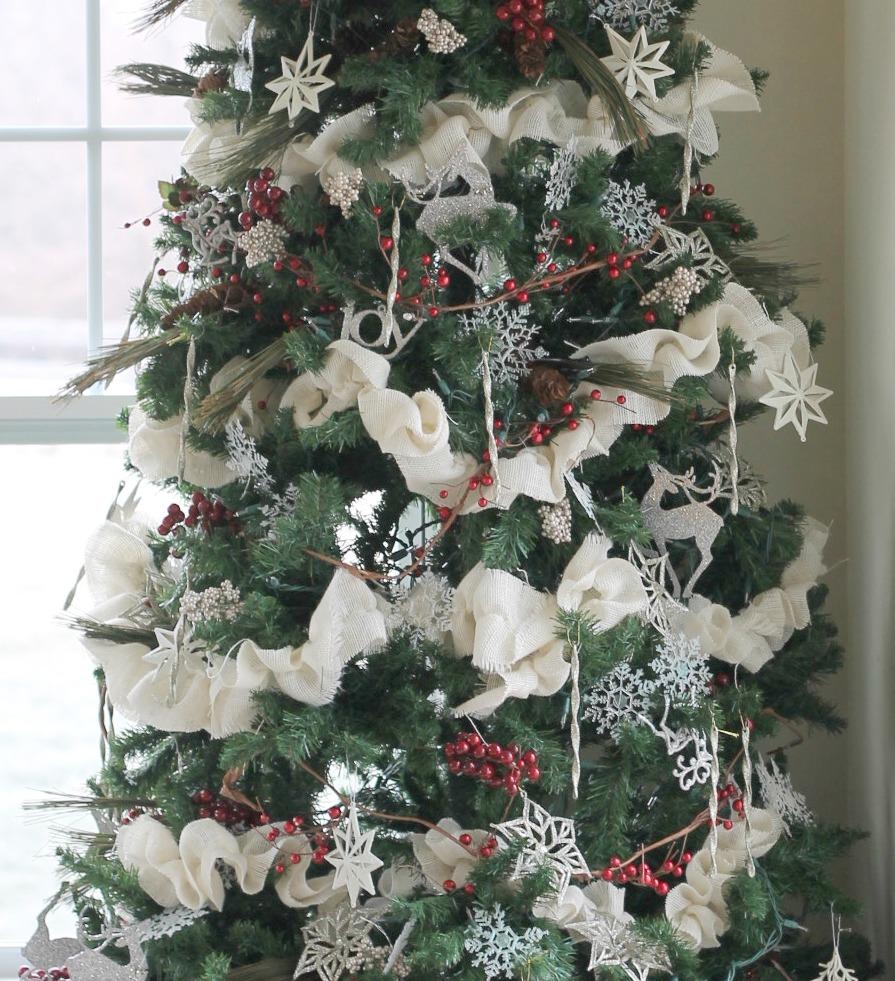 garland - Burlap Christmas Tree Garland