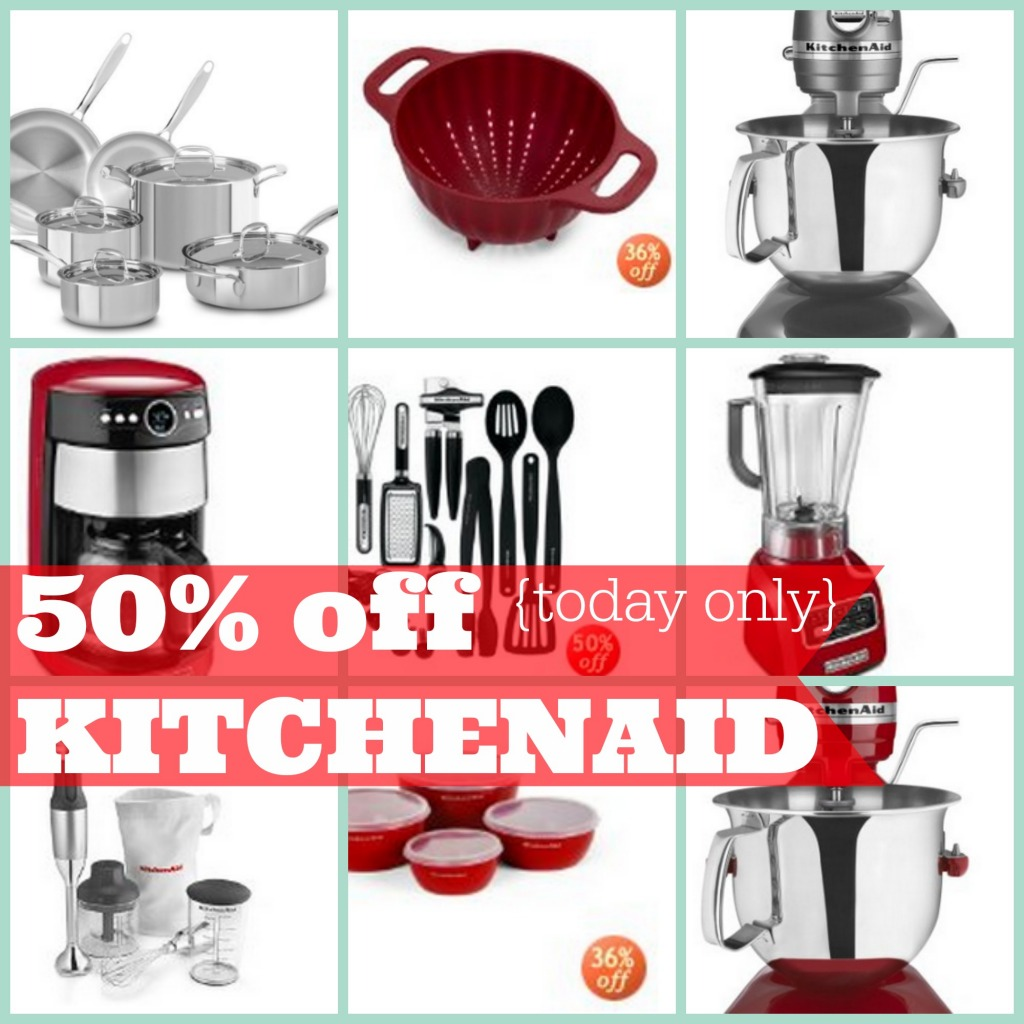 HOT* 50% Off Kitchenaid Appliances & Kitchen Tools, Today Only!