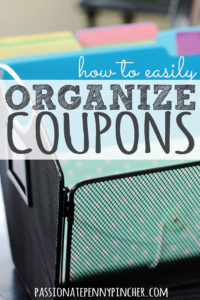 Easily Organize Coupons