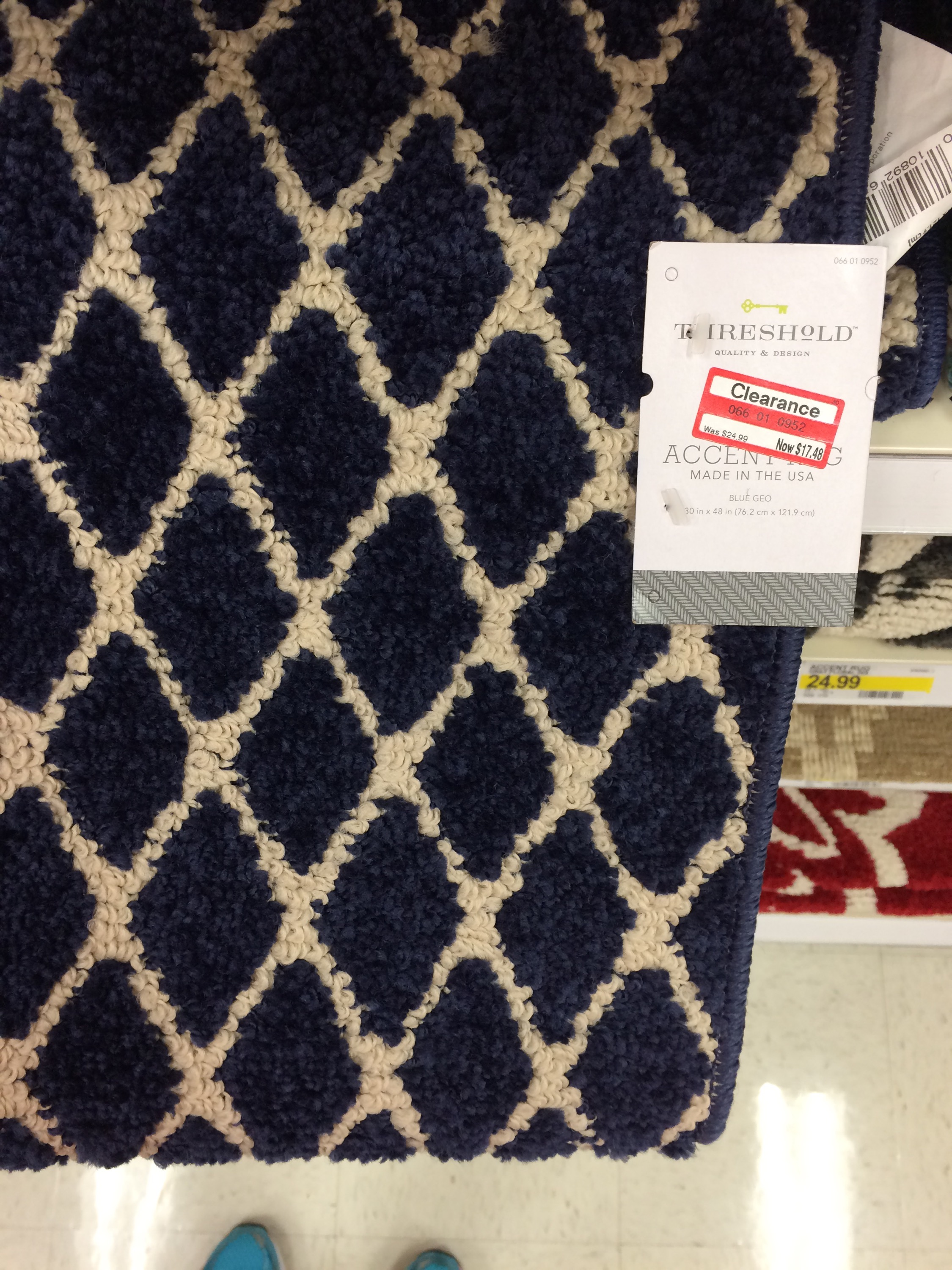 target clearance: accent rugs 30%-50% off, placemats 70% off (plus Accent Rugs