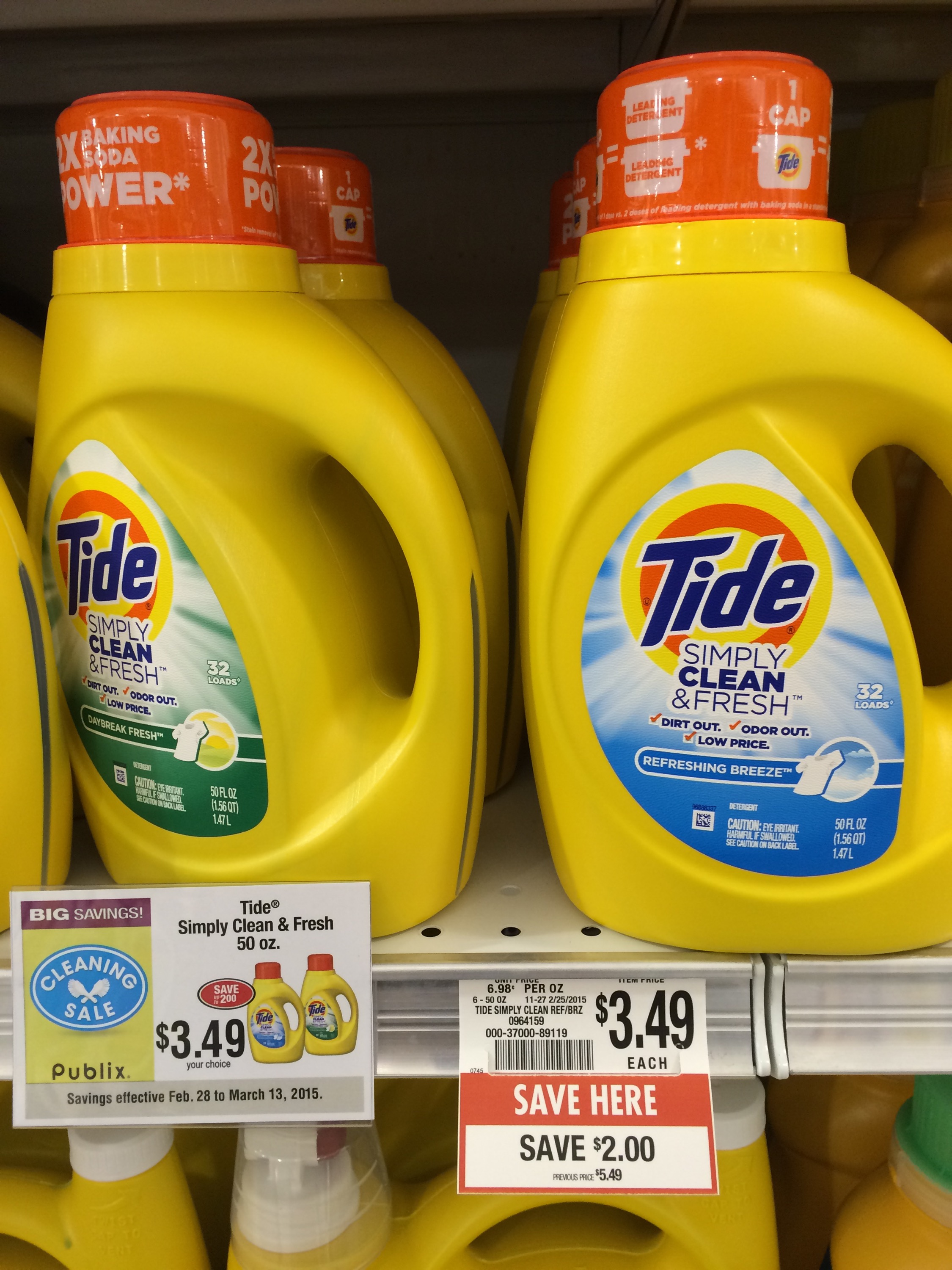 image relating to Tide Simply Clean Printable Coupons named Publix Far more Reveals: Tide Simply just Fresh $2.49, Go through Bare