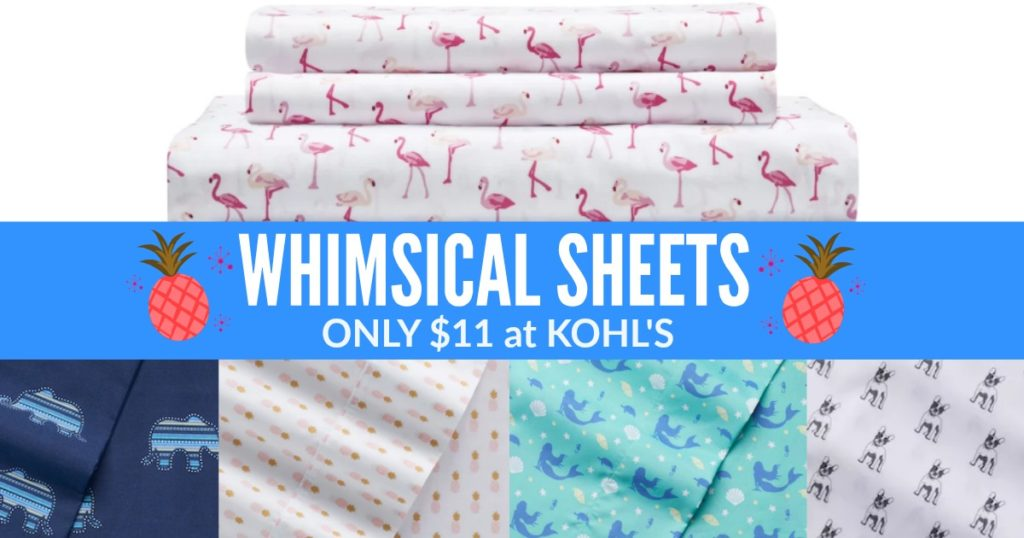 Kohls Whimsical Sheet Sets Only 11 19 Big One Pillows As Low As