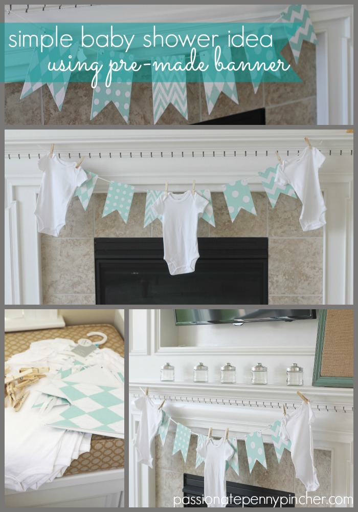 5 Minute Baby Shower Decor Passionate Penny Pincher