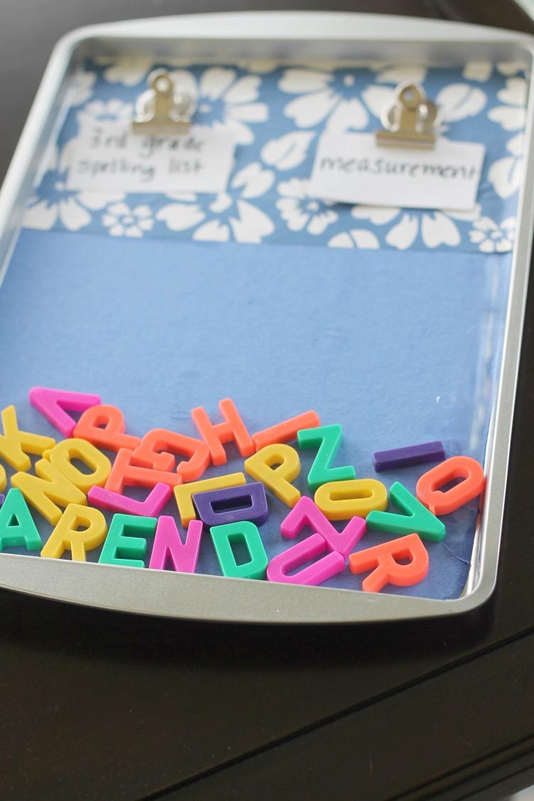 Spelling Practice Board from Dollar Tree Items