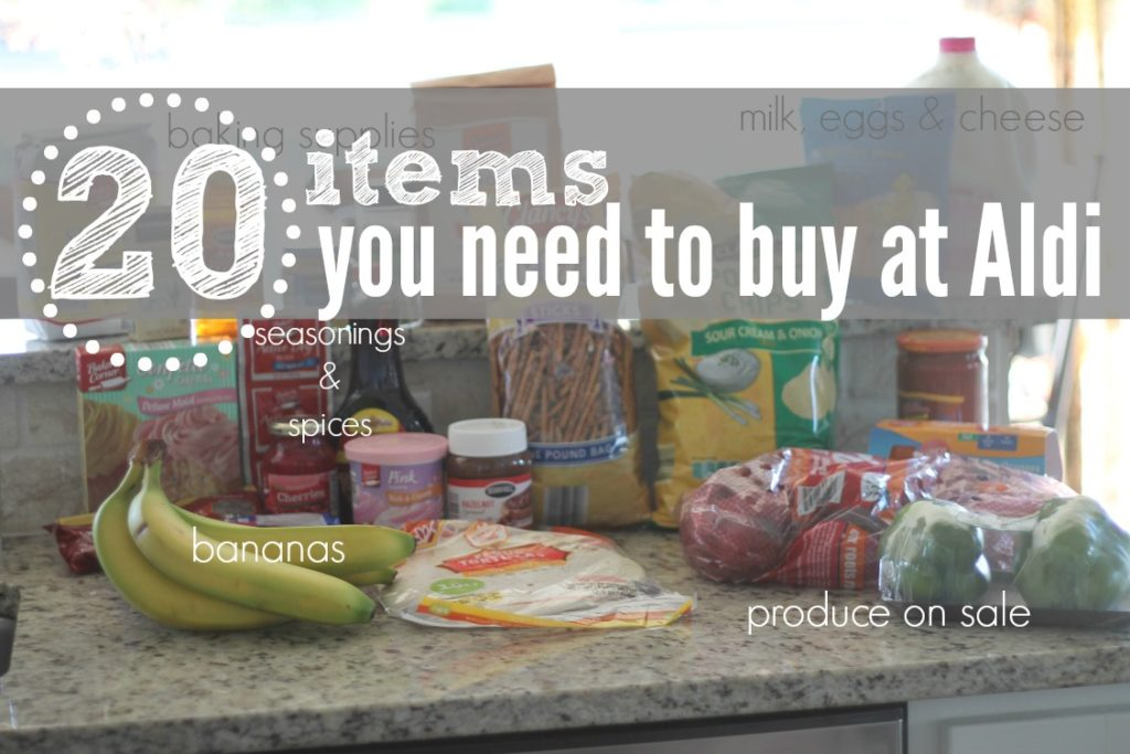 Items You Need To Buy at Aldi
