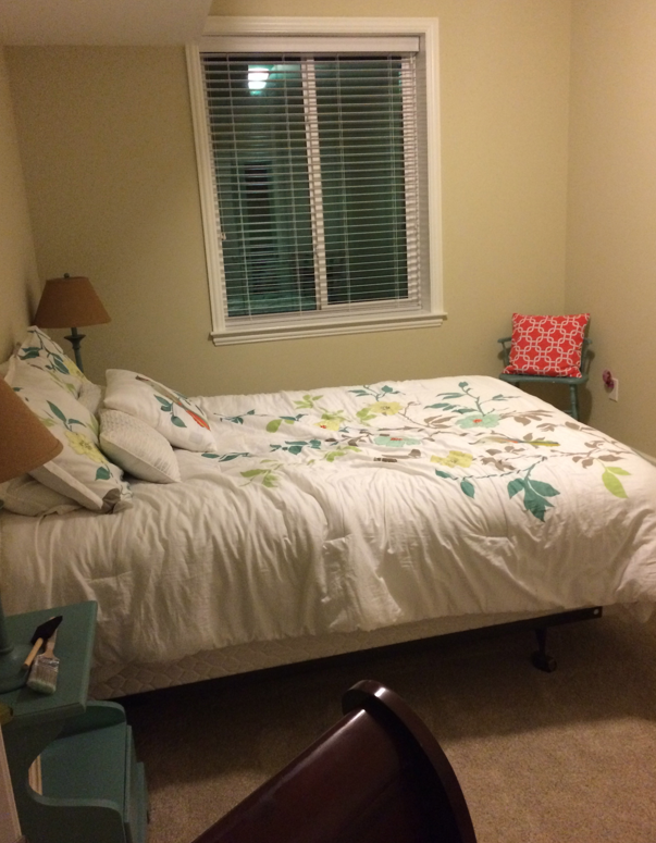 How To Make Homemade Chalk Paint Our 48 Goodwill Sleigh Bed