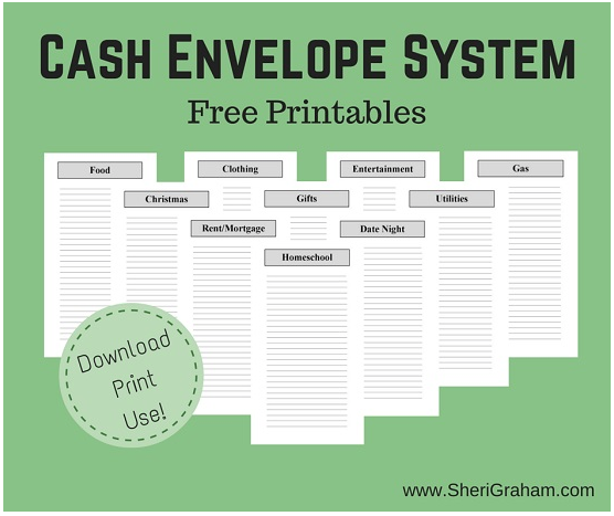picture relating to Printable Cash Envelopes identified as Totally free Printable Funds Envelope Approach