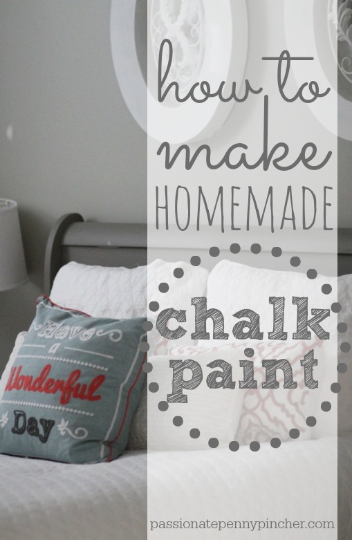How To Make Homemade Chalk Paint + Our $48 Goodwill Sleigh Bed ...
