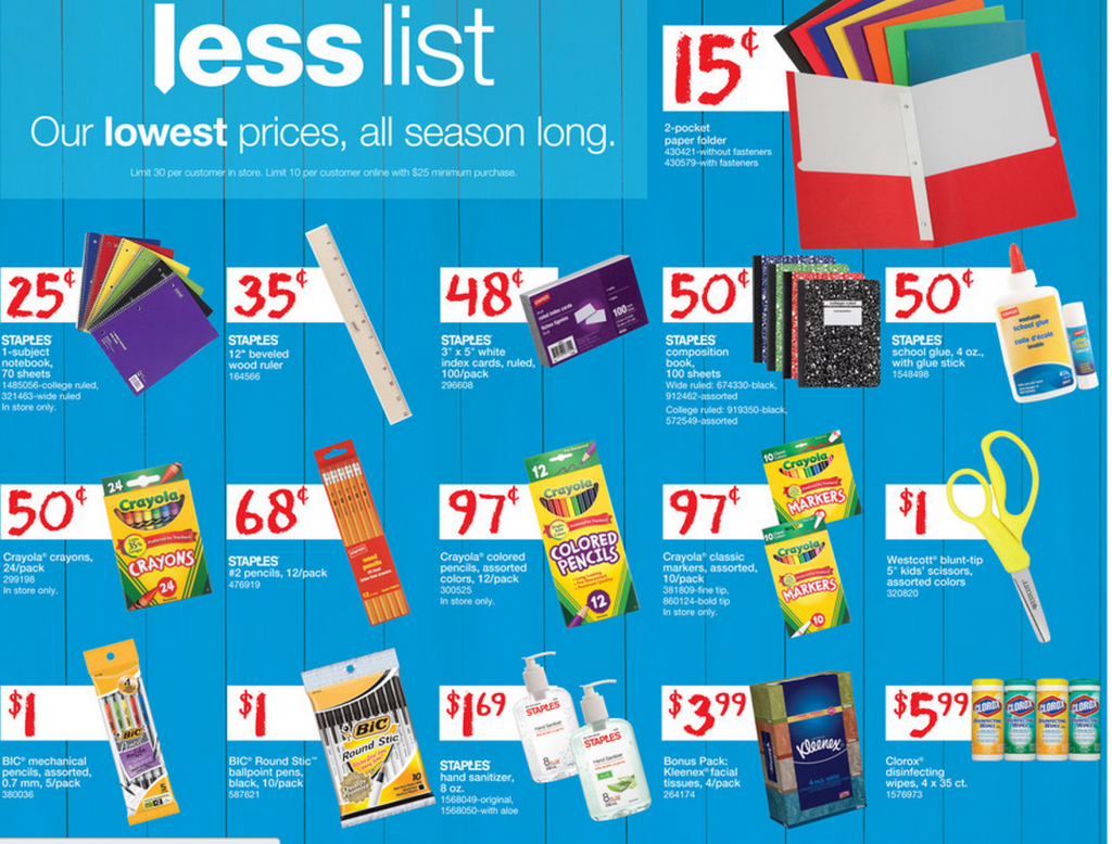 Back to school deals this week