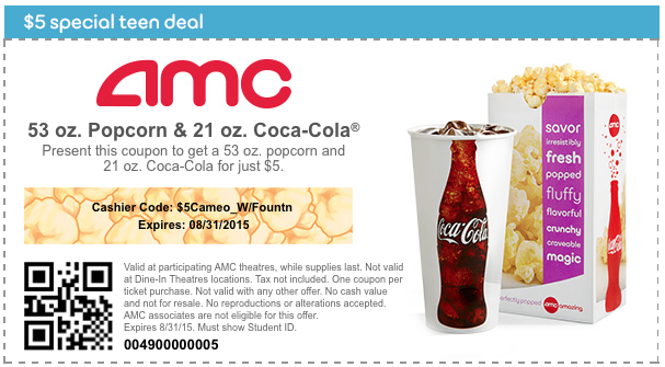 Get a student discount at AMC Theatres on Thursdays. Just show your high school or college ID. Like AMC Theatres coupons? Try these Join the Club & Get % off Service Fees. Expires 12/15/ Get Deal. Ticket Club coupons. Save up to $37 .