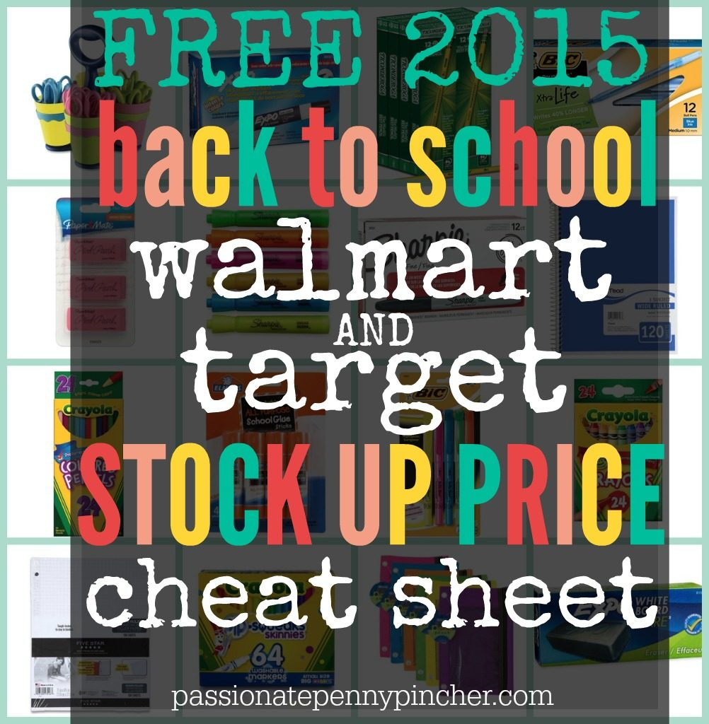 Back to School Supply List Price Point Guide: