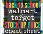 Free Back To School Walmart & Target Stock Up Price Cheat Sheet