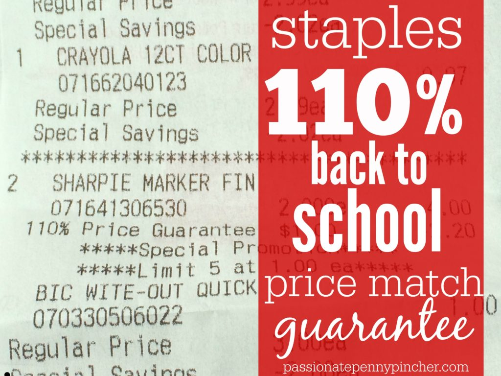 Staples color printing coupon code - Staples Price Match Guarantee