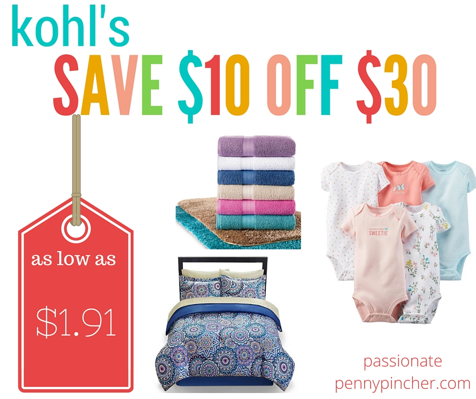 Kohls coupon codes 10 off 30 purchase extra 20 off kohls fandeluxe