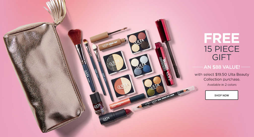 Ulta.com: Free 15-Piece Gift Set ($88 Value) with $19.50 Purchase ...