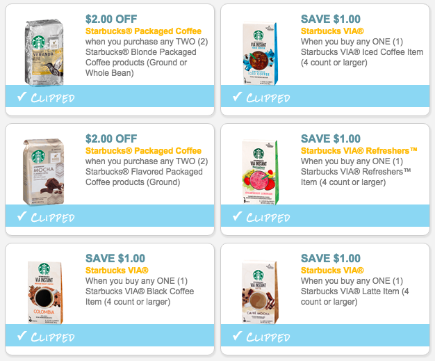 image about Starbucks Printable Coupons called Starbucks Printable Discount coupons Reset (Help you save $19.25)