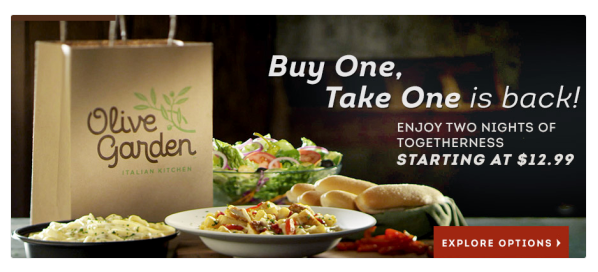Olive Garden Buy One Entree Take One Home Free Passionate Penny Pincher