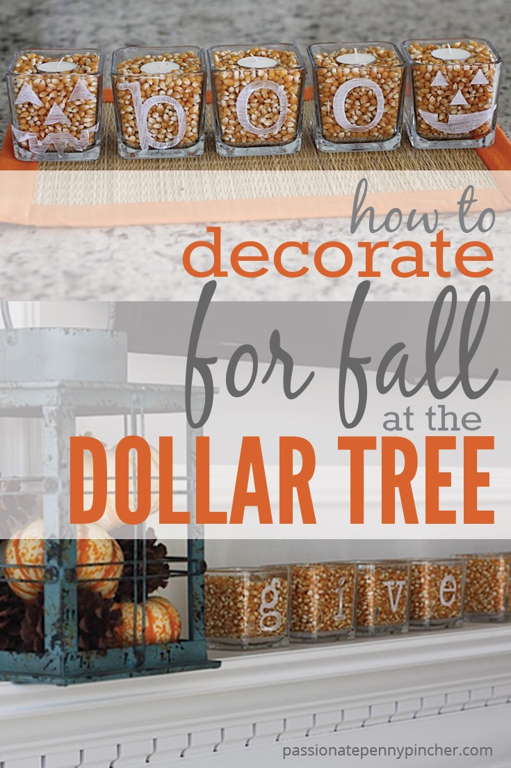 6 decorating at the dollar tree - Decorating For Fall
