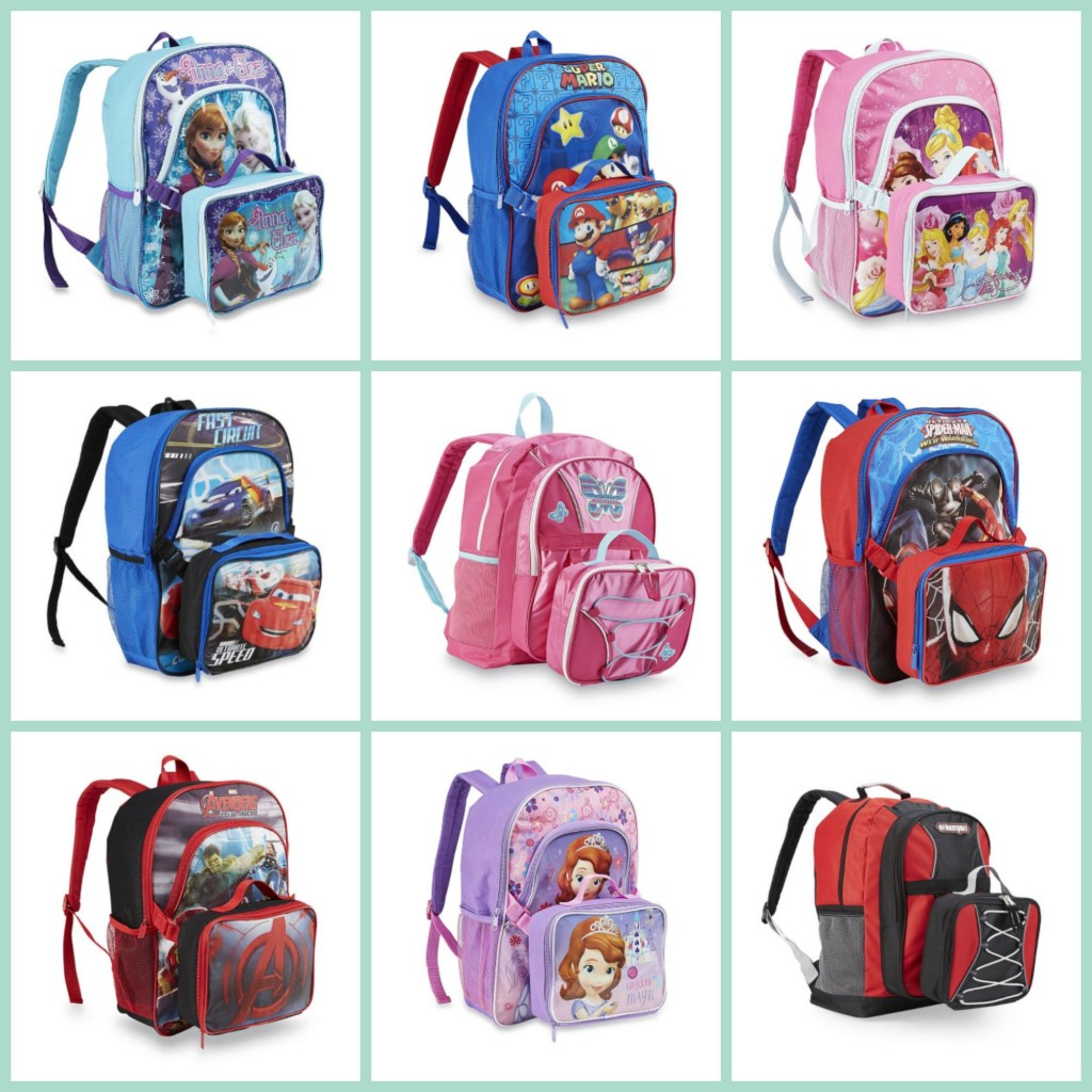 Kids Backpack   Lunch Box $9.60 (Frozen, Mario Bros, Disney ...