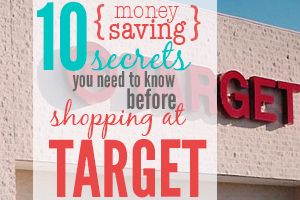 10 {money saving} secrets you need to know before shopping at Target