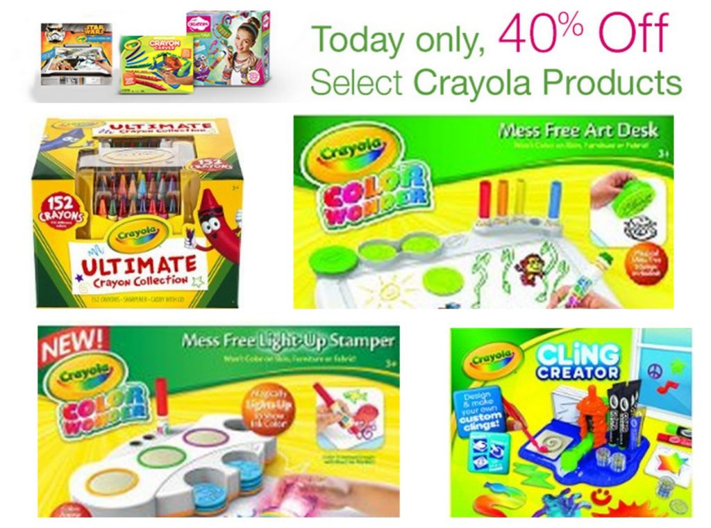 Amazon Gold Box Deal Save On Crayola Products Selling