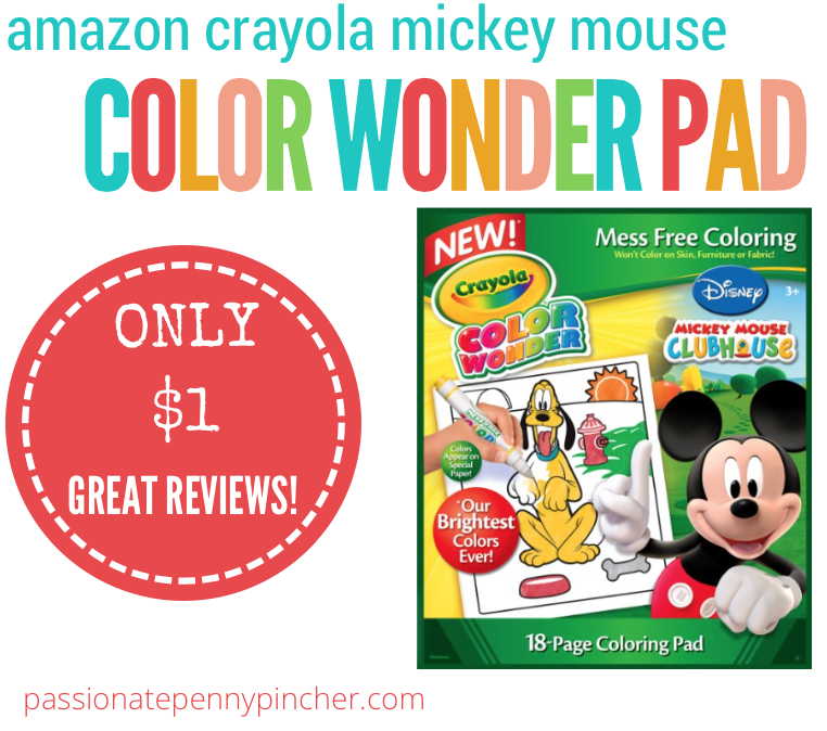 Crayola Color Wonder Mickey Mouse Coloring Pad $1 + Marker Deal ...