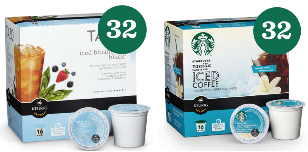 Starbucks Com Iced Coffee Or Tazo Tea K Cups As Low As 16