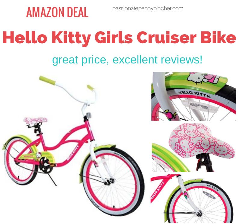 75252c07a87 Hello Kitty 20-Inch Girls Cruiser Bike $60.76 (Regularly $129.99)