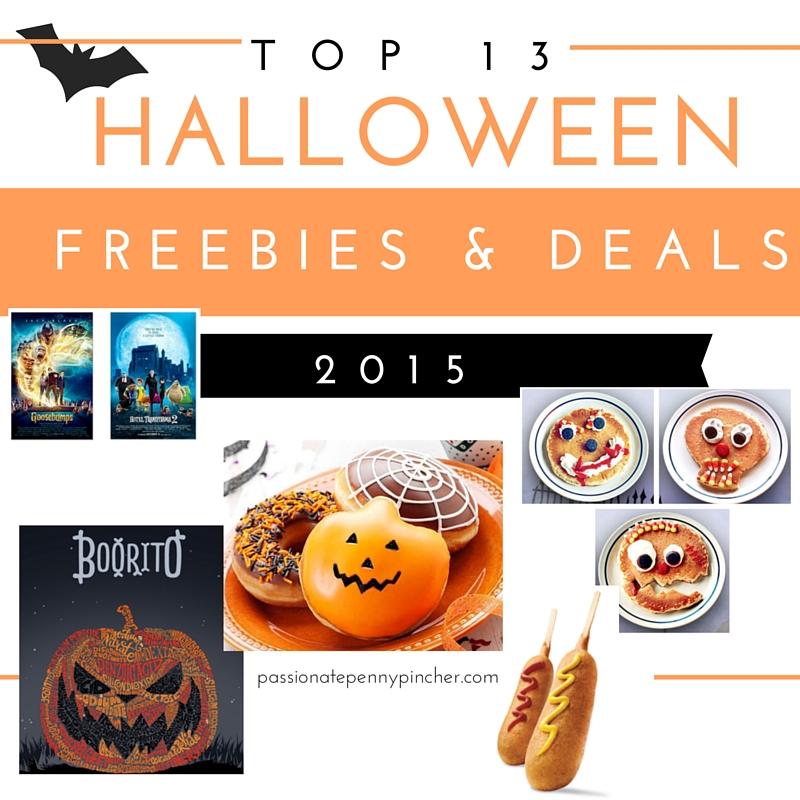 top 10 2015 Halloween Deals & Freebies