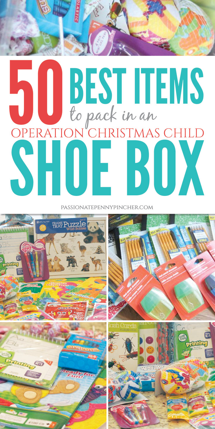 50 Best Items to Pack in an Operation Christmas Child Shoebox ...