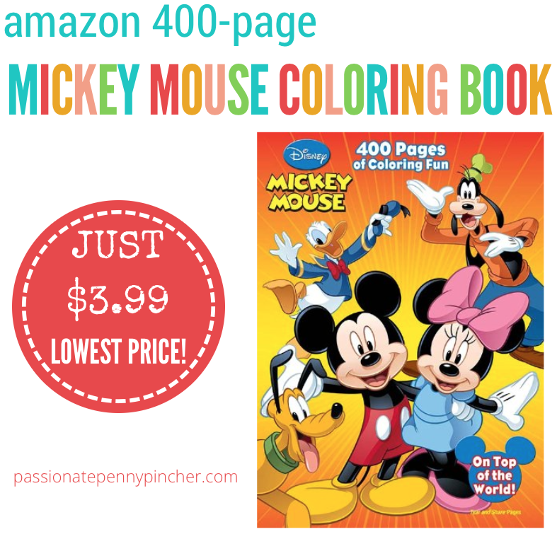 Disney Mickey Mouse 400 Page Coloring Book 3 99 Lowest Price