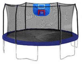 Exacme High Weight Limit Trampoline with Safety Pad & Enclosure Net and Ladder Combo with Basketball Hoop and Ball Included;T-Series, Orange (8foot, 10foot, 12foot, 13foot, 14foot, 15foot,16foo).
