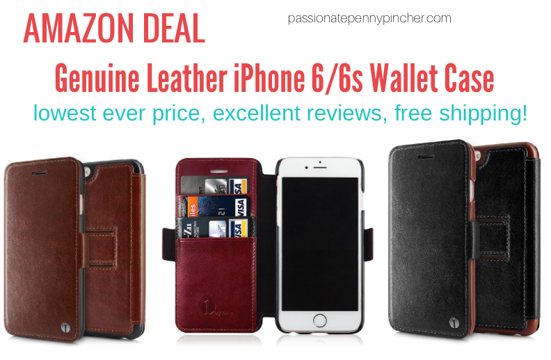 genuine leather iphone 6 6s wallet case passionate penny pincher. Black Bedroom Furniture Sets. Home Design Ideas