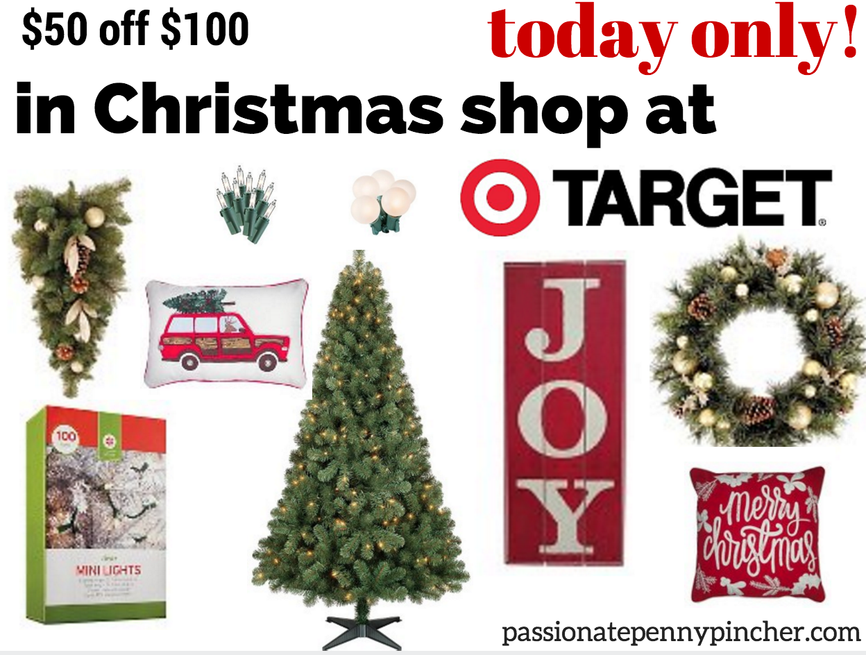 HOT* Save $50 On $100 In Christmas Shop at Target (Today Only ...