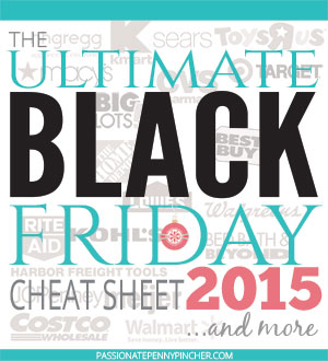 The Ultimate BLACK Friday Cheat Sheet 2015