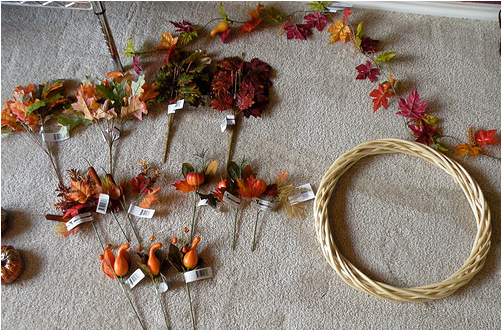 25 Days Of Dollar Tree Diy Day 1 Fall Wreath Passionate