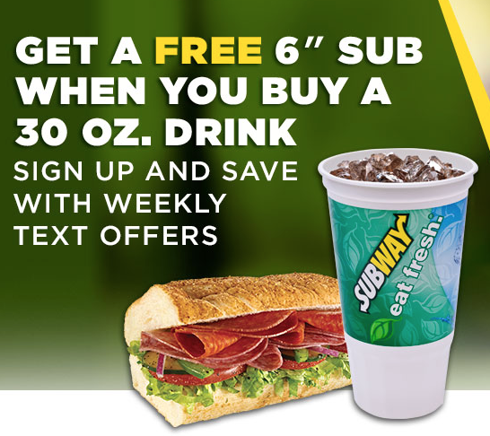 Subway $3.50 sub of the day