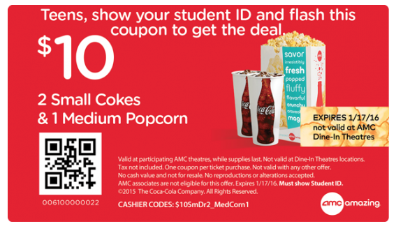 photograph about Amc Printable Coupons identify AMC Theatres Discount codes Promo Codes